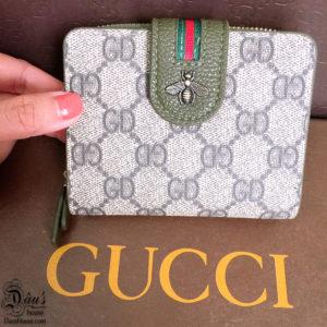 Vi cam tay ngan Gucci Bee xanh reu - G0611 (3)