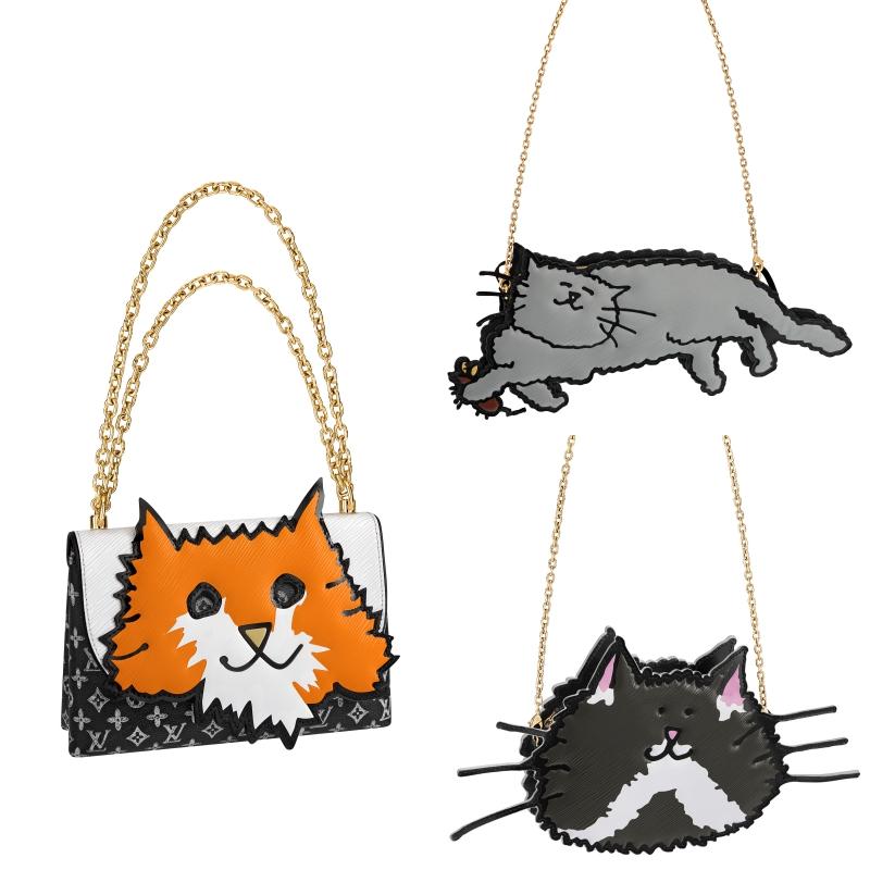 Vẻ tinh nghịch đáng yêu của các chú mèo được bà Grace Coddington thể hiện vô cùng thích mắt trên những chiếc túi xách trong BST đặc biệt lần này.