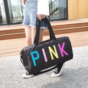 Tui Pink chu mau - Den - PK061