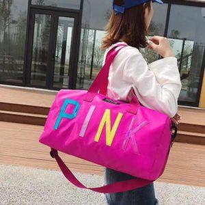 Tui Pink chu mau - Hong - PK064